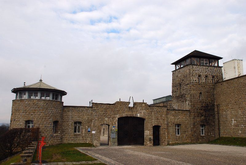 Entrada al campo de concentración de Mauthausen