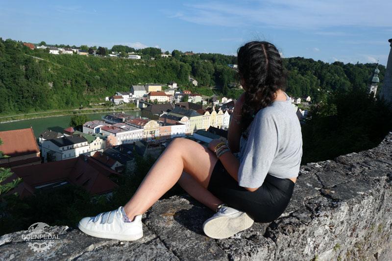 Vistas desde el castillo de Burghausen. Al fondo, el río Inn